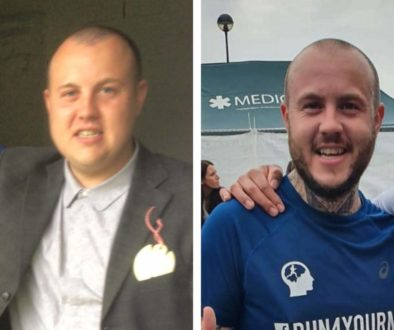 Oly run4yourmind photo before and after taking up running