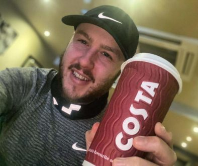 Oly run4yourmind with a costa coffee cup